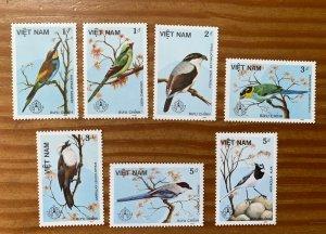 Viet Nam North 1986 Birds, unused. Scott 1660-166, CV $5.00
