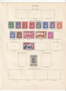 ST LUCIA 2 CROWN ALBUM PAGES  VALUES TO 3/- MOUNTED MINT