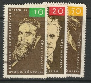 DDR East Germany GDR 1965 VF Used 3 Values A21P24F5604