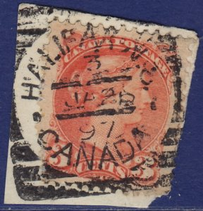 Canada - 1888 - Scott #41 - used on piece - HALIFAX 3 N.S. squared circle
