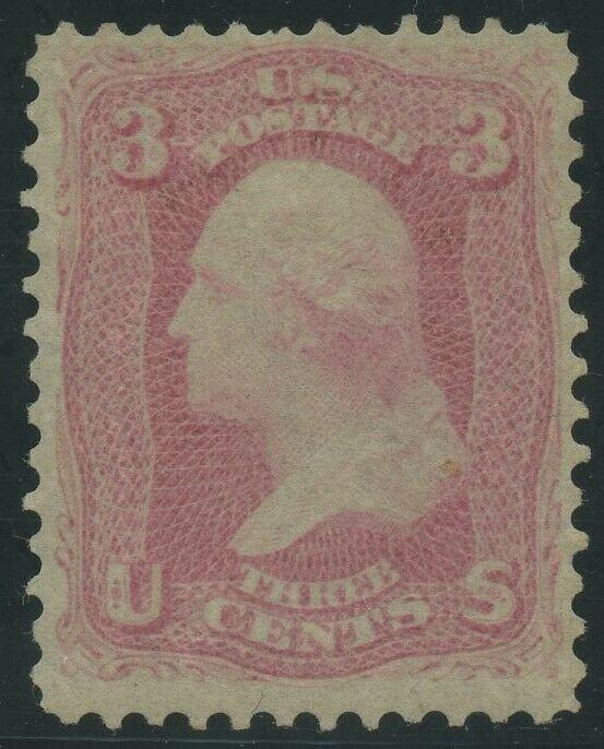 #64 3c 1861 (PINK) VF OG LH WITH PF CERT CV $14,000 WLM8545