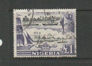 Nigeria 1953/8 Defs £1 FU SG 80