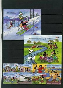LESOTHO 1991 DISNEY PHILA NIPPON'91 SET OF 8 STAMPS & 2 S/S MNH