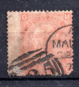 GB QV 4d vermillion SG94 used A25 Malta WS10242