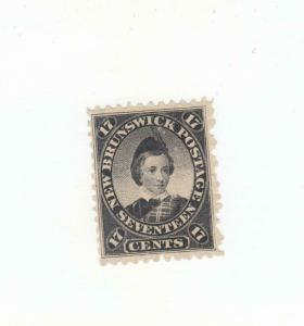 NEW BRUNSWICK # 11 FVF-MH 17cts MAY 15,1860 PRINCE OF WALES /BLACK CAT VALUE $55