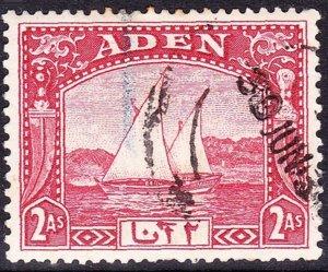 ADEN 1937 Scarlet Dhow SG4 Fine Used