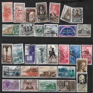 COLLECTION LOT OF # 842 ITALY 31 STAMPS 1952+ CV +$21