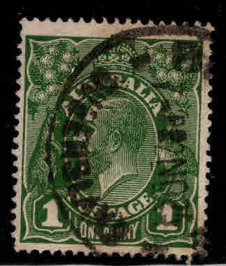 Australia Scott 23  used wmk 9 narrow A 1924 stamp