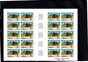 Anguilla 1982 Sc 502-5 MNH Commemorative Perforate Sheetlet of 20 with German...