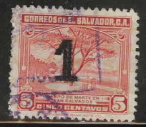 El Salvador Scott 568 Used 1938 surcharge