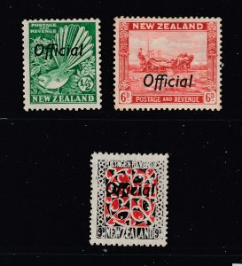 New Zealand x 3 MH Officials from the 1935 series