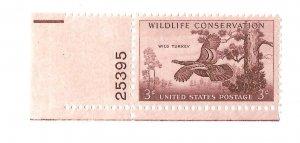USA 1956 - Mint NH w/ plate # - Scott #1077