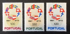 Portugal 1967 #1011-3, MNH,  CV $4.35