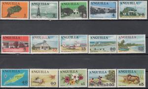 Anguilla, SC # 17-31, MNH, 1967