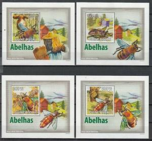 Guinea Bissau, 2009 issue. Honey Bees on 4 Deluxe s/sheets.
