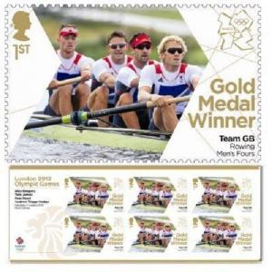 GB Olympic Gold Medal Gregory James Reed Hodge Rowing miniature sheet MNH 2012