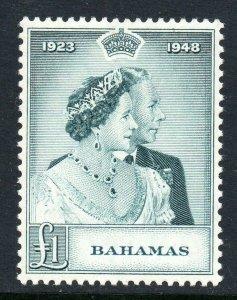 Bahamas 1948 KGVI Reale Argento Matrimonio Rsw Sg 195 come Nuovo