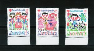 Hungary 1979 YEAR OF THE CHILD set (3) Perforated mnh.vf