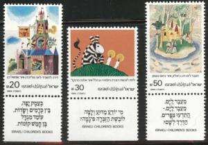 ISRAEL Scott 893-895 MNH** 1984 children's book illustrations set with tabs