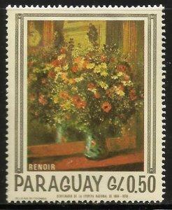 Paraguay 1967 Scott# 1027e MH (gum disturbance)