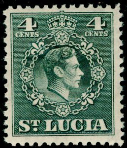 ST. LUCIA SG149, 4c grey, LH MINT.