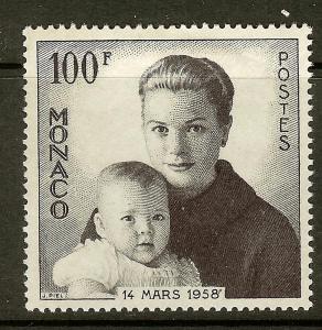 Monaco, Scott #409, 100fr Princesses Grace and Caroline, MH
