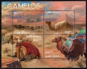 Guinea-Bissau MNH S/S Cross-Eyed Camels 2012