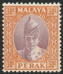 PERAK-1938 30c Dull Purple & Orange Sg 116 MOUNTED MINT V45261