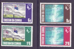 Tristan da Cunha  #120-123 1968  MNH 30th anniversary charts  flag
