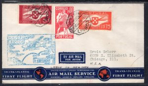 Portugal Lisbon to New York First Flight 1939 Cover