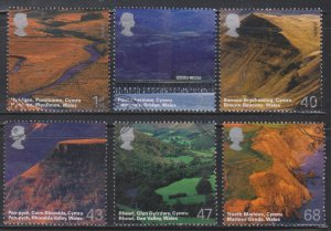 Great Britain,  Wales Scenery (SC# 2215-2220) Used Set