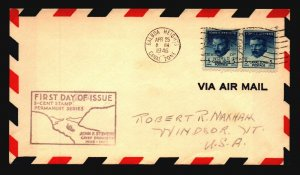 Canal Zone SC# 139a FDC Pair / Cacheted - L1583