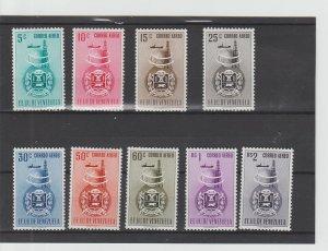Venezuela  Scott#  C356-C364  MH  (1951 Arms of Anzoategul)