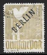 Germany - Berlin 9N17 used 2017 SCV $120.00  top corner perf missing - 10914..