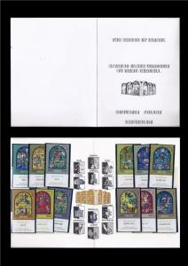ISRAEL 1973 CHAGALL STAINED GLASS WINDOWS BIBLE TRIBES STAMPS IN FOLDER
