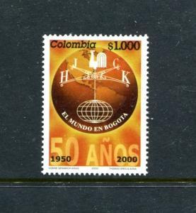 Colombia 1172, MNH, Radio Station HJCK 50th Ann 2000. x23433
