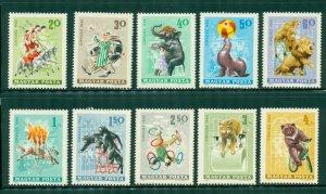R4-0011 (2) HUNGARY 1684-93 MNH CIRCUS  ACTS SCV $3.00 BIN $1.75 (15)
