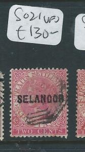 MALAYA SELANGOR (P0510B) 2C QV  SG 21  VFU