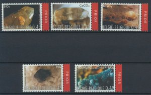 [BEL46] Belgium 2003 Minerals good set of stamps very fine MNH