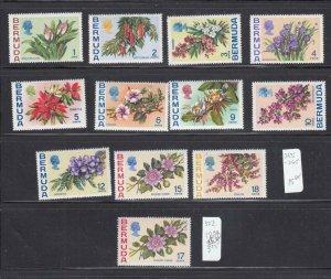 BERMUDA #s 255-265 VF-MNH +322 VF-MNG DIFFERENT FLOWERS/PLANTS
