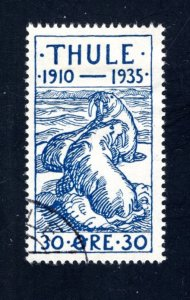Greenland, Thule, #YV4,  Local Post, VF, Used, CV $3.50 ....2510264