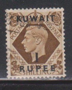 KUWAIT Scott # 79 Used - KGVI Stamp Of Great Britain With Overprint