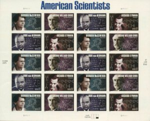 US: 2005 AMERICAN SCIENTISTS; Complete Sheet Sc 3906-09; 37 Cents Values