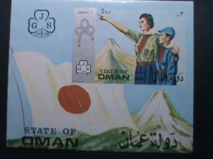 OMAN WORLD GIRL SCOUTS DAY -MNH IMPERF: S/S VERY FINE WE SHIP TO WORLD WIDE
