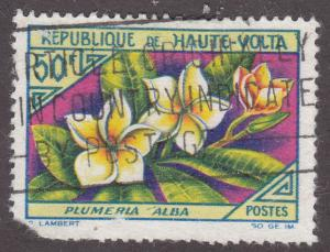 Burkina Faso 124 White Plumeria 1963