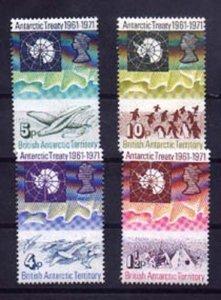 024874 1971 BRITISH Antarctica ANIMALS set of 4 MNH#24874