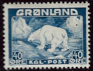 Greenland SC#8  Mint F-VF hr SCV$17.50...Nice!