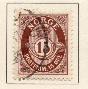 Norway 1910/11 Early Issue Fine Used 15ore. 123257