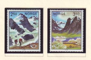 Norway Sc 819-20 183 Nordic Cooperation stamp set mint NH