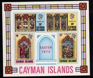CAYMAN ISLANDS - Easter 1973 - Mini Sheet MS328
